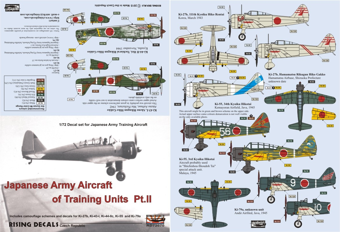 RD72-070 Japanese Army Aircraft of Training Units Pt.II instruction